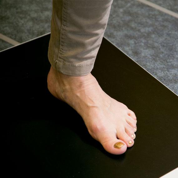 Fußdruckmessung im Schuhhaus Rauh