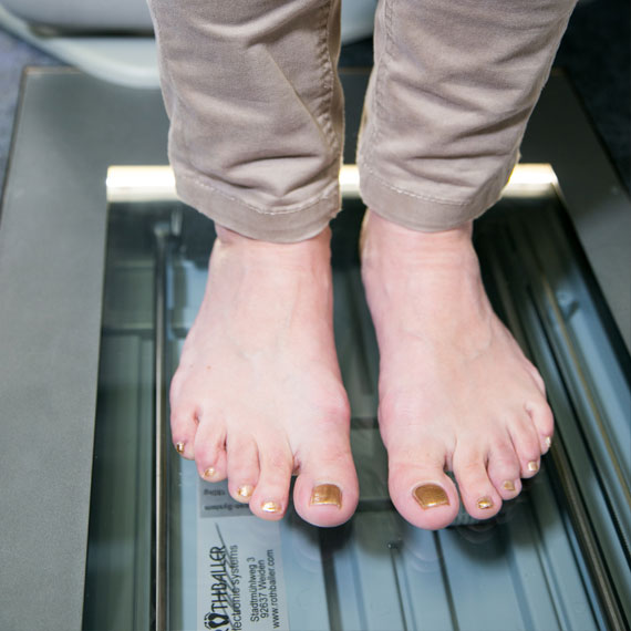 Scan Ihrer Füße im Schuhhaus Rauh